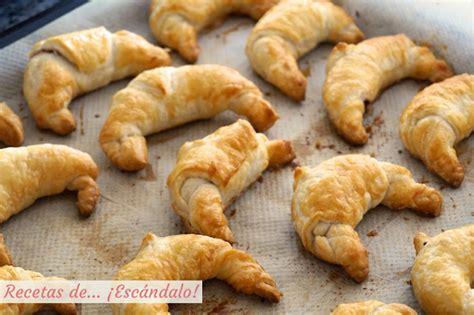 Como hacer croissants de hojaldre rellenos de Nutella ...