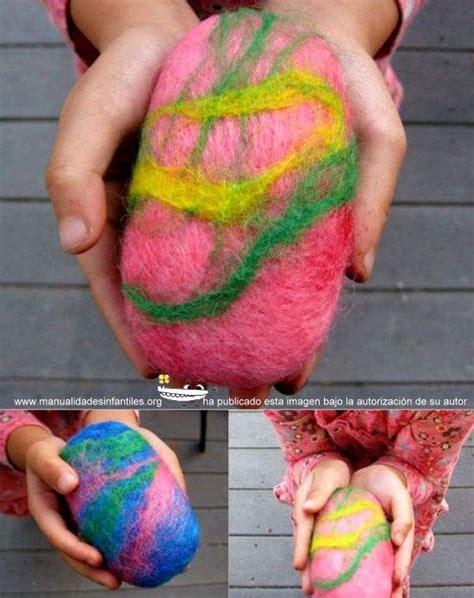 Como hacer jabón de fieltro con niños | Jabón de fieltro ...