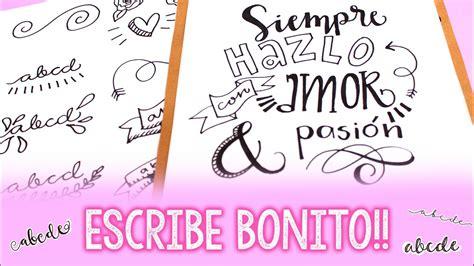 ¿Cómo hacer letras bonitas? Barbs Arenas Art!   YouTube