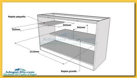 Como hacer muebles de cocina plano mueble bajo mesada de ...