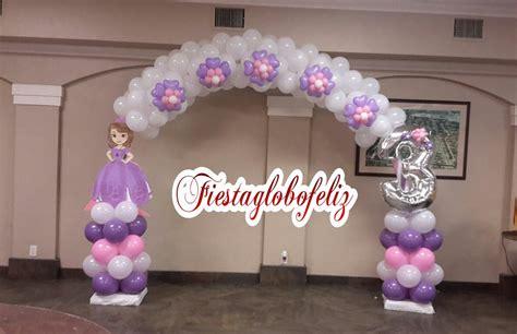 Como hacer un arco de la princesa sofia con globos   YouTube