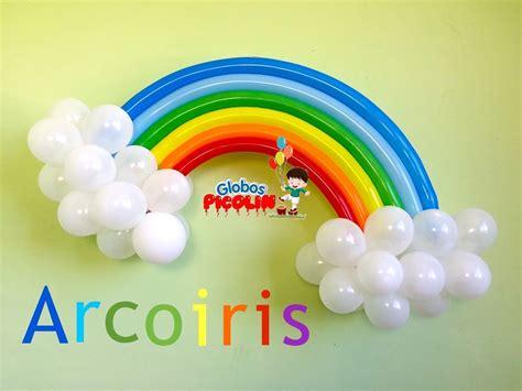 Como hacer un arcoiris con globos para decoraciones My ...