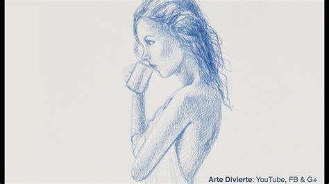 Cómo hacer un boceto de una chica tomando café   Narrado ...