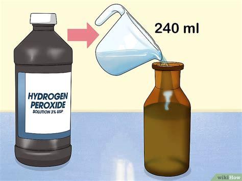 Cómo hacer un enjuague bucal de peróxido de hidrógeno