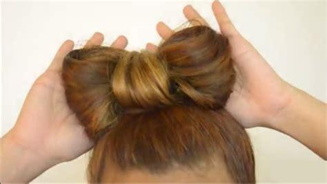 Cómo hacer un moño con tu cabello - YouTube