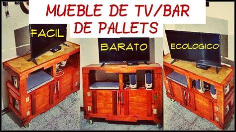 ¿Como hacer un mueble de TV / Bar con Palets? - YouTube