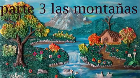 como hacer un paisaje en plastilina 3 las montañas - YouTube
