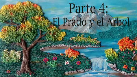 Como hacer un paisaje en plastilina 4. El prado y el Arbol ...