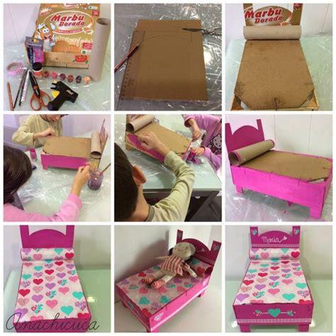 ¿Cómo hacer una cama para muñecas con material reciclado ...