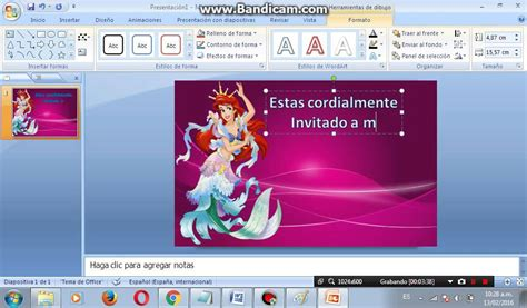 como hacer una invitación en power point - YouTube