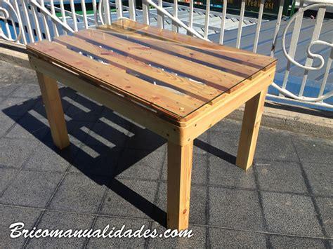 Como hacer una mesa con palet : Bricomanualidades