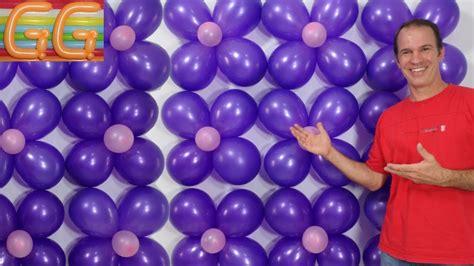como hacer una pared de globos - decoracion con globos ...
