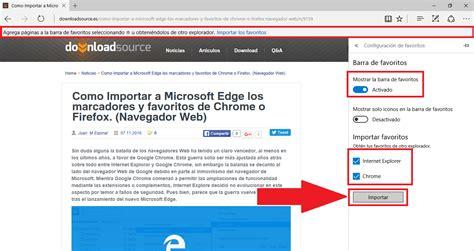 Como Importar a Microsoft Edge los marcadores y favoritos ...