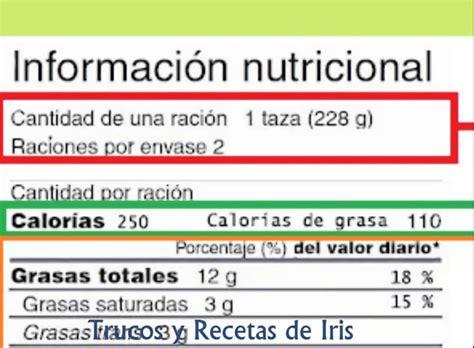 Como leer bien la etiqueta nutricional de alimentos y ...