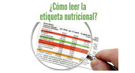 Cómo leer una etiqueta de información nutrimental