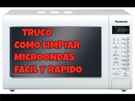 Como limpiar microondas rápido y fácil   YouTube