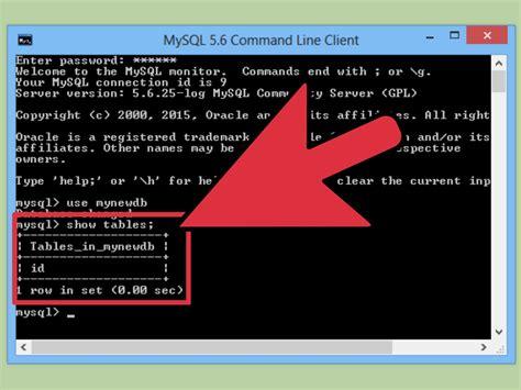 Cómo mandar consultas sql a la línea de comandos de MySQL