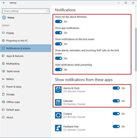 Cómo modificar notificaciones en Windows 10
