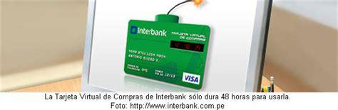 Cómo obtener una Tarjeta Virtual de Compras de Interbank