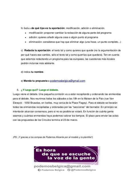 Como participar en el programa electoral de Podemos