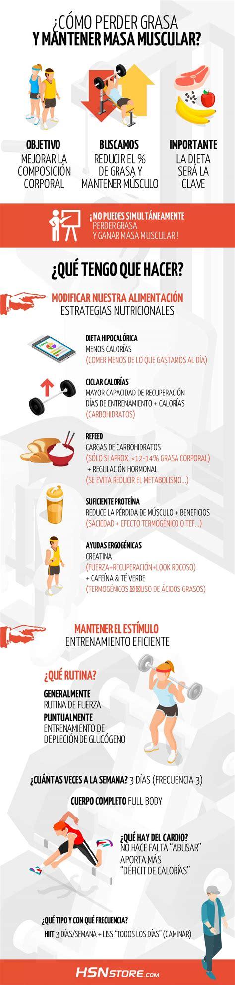 ¿Cómo perder grasa y mantener músculo?
