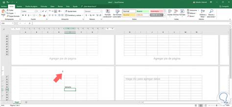 Cómo poner número de página en Excel 2019   Solvetic