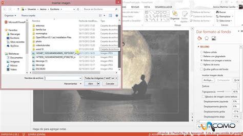 Cómo poner una imagen de fondo en PowerPoint 2013   YouTube