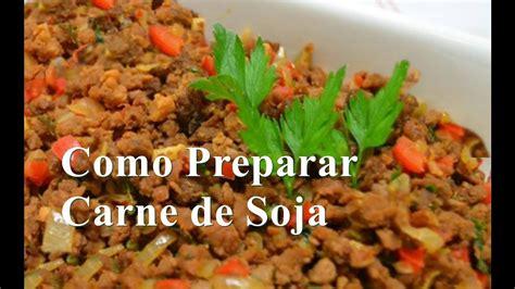 Como Preparar Carne de Soja - YouTube
