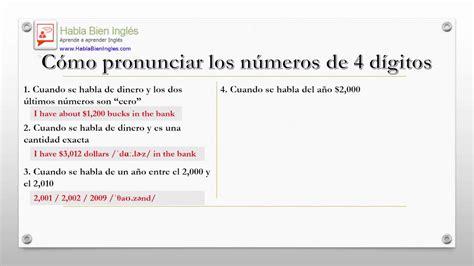 Cómo pronunciar los números de 4 dígitos en inglés   YouTube