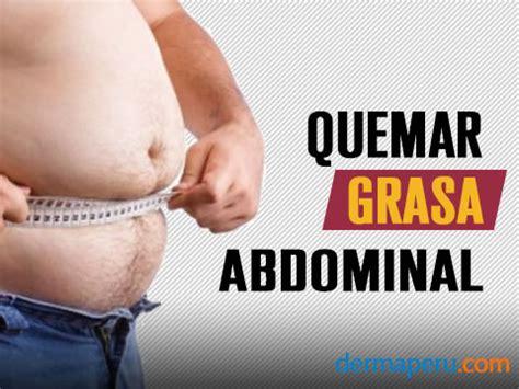 Como quemar grasa abdominal rápidamente   Dermaperu