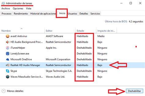 Cómo quitar o agregar programas de inicio en Windows 10