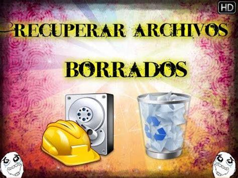 CÓMO RECUPERAR ARCHIVOS ELIMINADOS EN WINDOWS 10, 8, 7 ...