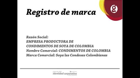 ¿Cómo registrar una marca en Colombia? - YouTube