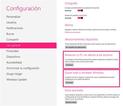 Cómo restaurar o restablecer Windows 8 - Microsoft Community