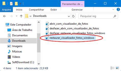 Como restaurar o visualizador de fotos no Windows 10