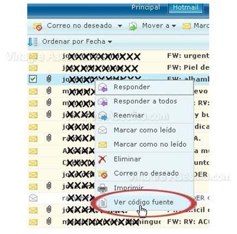 Como saber cual es la dirección IP en un correo de Hotmail
