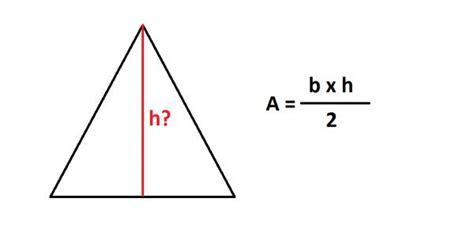 Cómo saber la altura de un triángulo usando el área