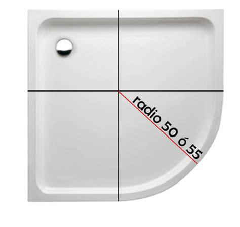 Cómo saber si un plato de ducha semicircular es radio roca