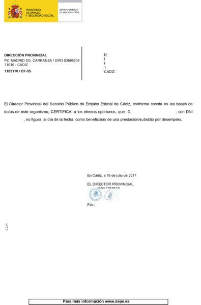 Cómo solicitar el certificado de situación | EmpleoJob