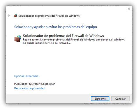 Cómo solucionar los problemas con el Firewall de Windows 10