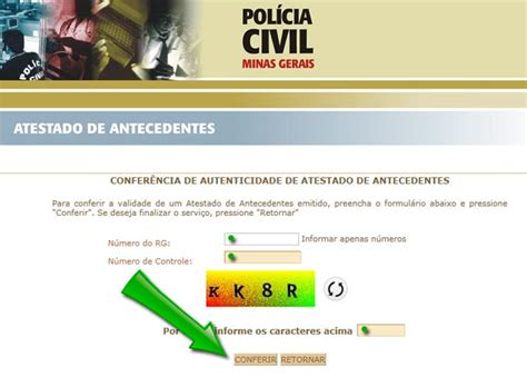 Como tirar Antecedentes Criminais   Estado de Minas Gerais ...