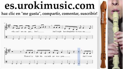 Como Tocar Flauta dulce B. Sia Elastic Heart Parte#2 ...