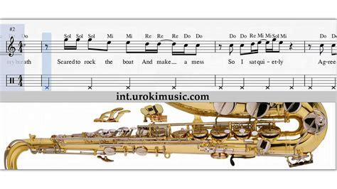 Como Tocar Saxofon tenor Katy Perry Roar Clases Notas ...