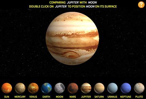 Comparando el tamaño de los planetas del sistema solar ...