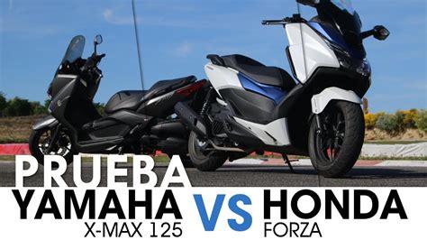 Comparativa 125: Yamaha X MAX & Honda Forza - videoprueba ...