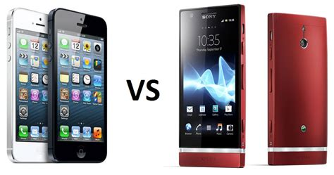 Comparativa: iPhone 5 vs Sony Xperia P, características ...