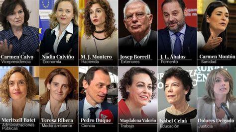 Comparecencia de Pedro Sánchez y los nuevos ministros, en ...