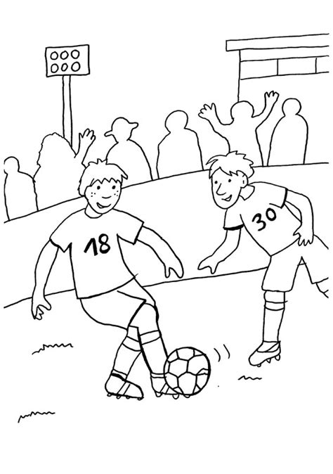 Competición de fútbol: dibujo para colorear e imprimir