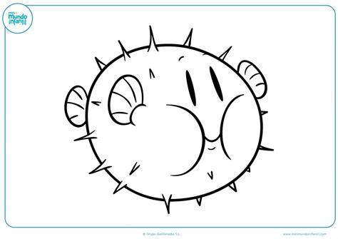 Completa el dibujo del pez globo con pinchos