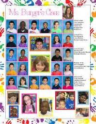 Completed yearbook page for my daughter s 1st grade class ...